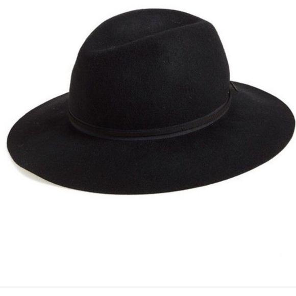 972c74ecd Hinge wool floppy hat, black. One size